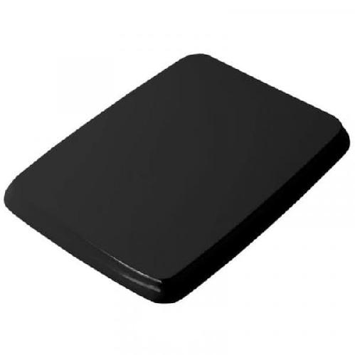 Крышка ArtCeram Civitas с сиденьем для унитаза, механизм soft-close, цвет черный/хром