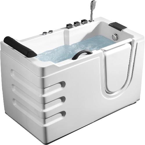 Акриловая ванна ABBER 130*70 с гидромассажем