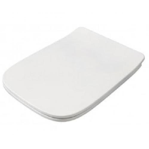 Крышка с сиденьем ArtCeram Slim для унитаза, механизм soft-close, цвет белый/хром
