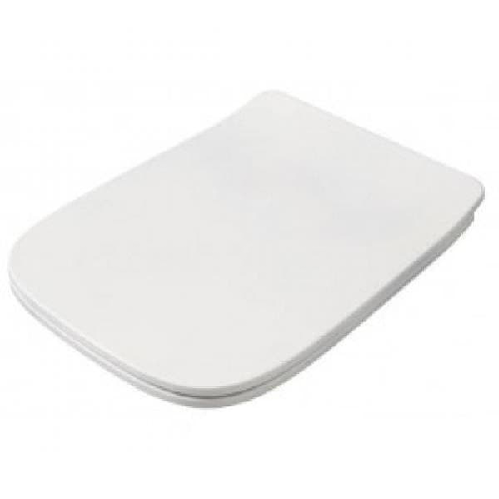 Крышка с сиденьем ArtCeram Mini для унитаза, механизм soft-close, цвет белый/хром