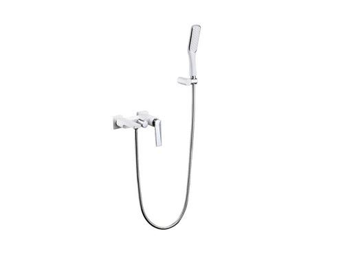 Смеситель встроенный Boheme Venturo + верхний душ + ручной душ БЕЛЫЙ+ХРОМ