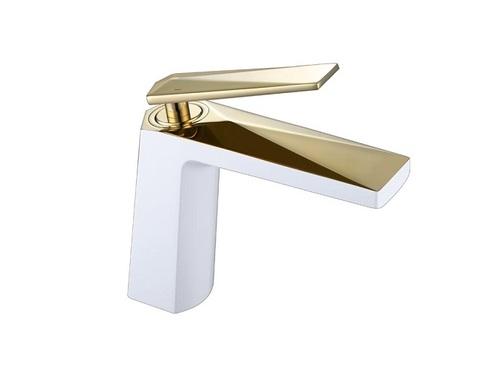 Смеситель для умывальника Boheme Venturo, белый-золото