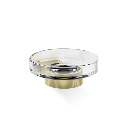Decor Walther Club WSS Мыльница подвесная, прозрачное стекло, цвет: золото матовое