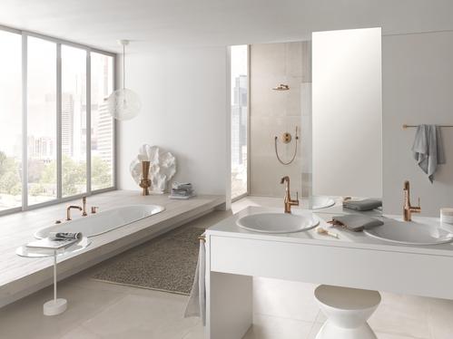 Смеситель для ванны Grohe Essence New, цвет теплый закат матовый