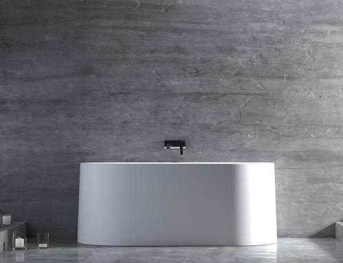 Пристенная ванна SALINI GIADA, 165х80, из камня, белая
