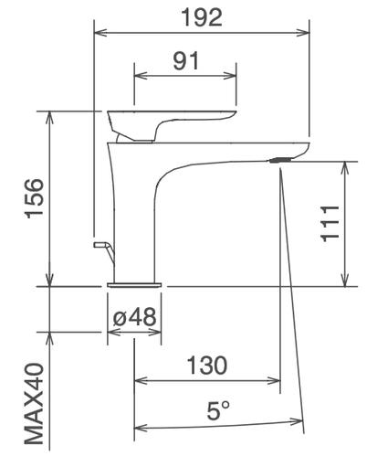 Смеситель для раковины La Torre Laghi, хром 19.2