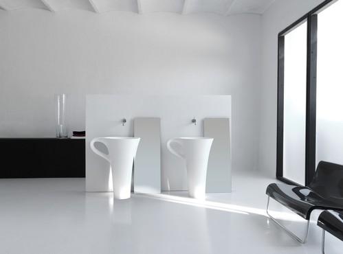 Раковина напольная отдельностоящая ArtCeram (Livingtec) 70х50хh85 см, цвет белый