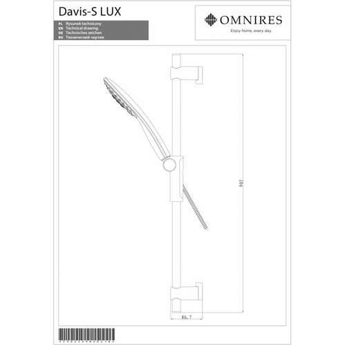 Душевой гарнитур Omnires DAVIS-SLUXCR