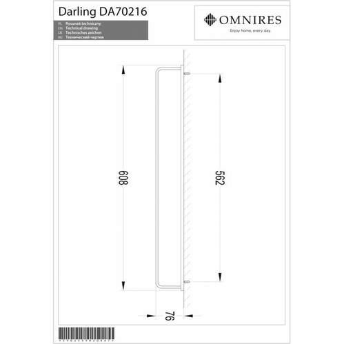 Omnires Darling Вешалка для полотенца, 61 cм, золотой