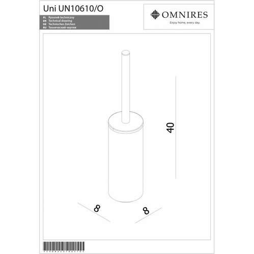 Omnires UNI Ершик напольный для унитаза, хром