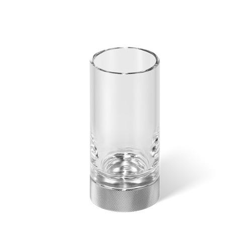 Decor Walther Club SMG Стакан настольный, прозрачное стекло, цвет: хром