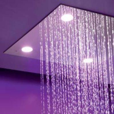 Верхний душ  потолочный с ХРОМОТЕРАПИЕЙ
