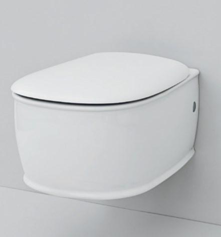 Крышка с сиденьем для унитаза ArtCeram Azuley, механизм soft-close, цвет белый/бронза