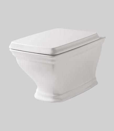Крышка ArtCeram Civitas белая с сиденьем для унитаза, механизм soft-close, цвет петель хром, золото