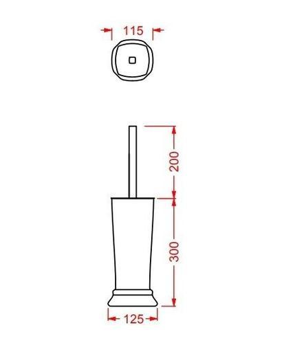 Ершик ArtCeram Civitas напольный с керамической колбой 10х50 cм, цвет белый/хром