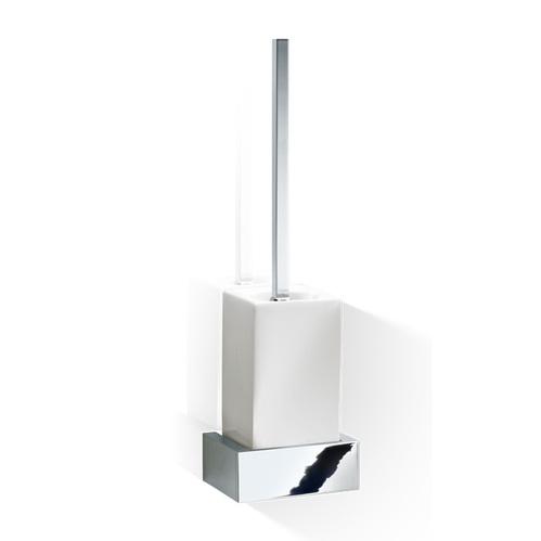 Decor Walther Brick WBG Туалетный ершик, подвесной, фарфор белый, цвет: хром