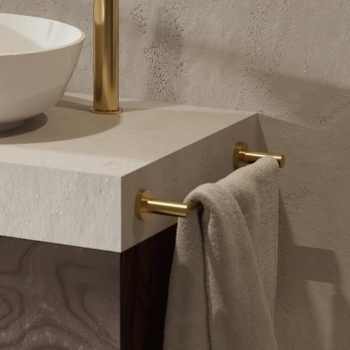 Вешалка Omnires MODERN PROJECT для полотенца, брашированное золото