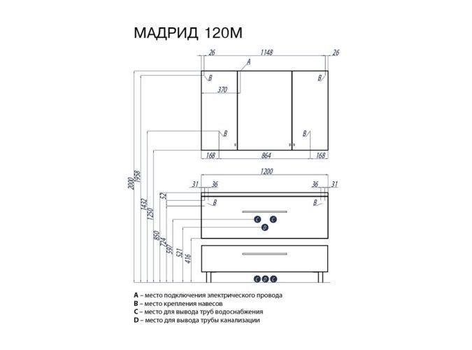 Комод с ящиком МАДРИД 120 М