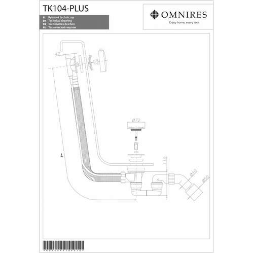 Сифон для ванны Omnires