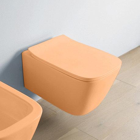 Крышка с сиденьем ArtCeram Slim для унитаза, механизм soft-close, цветная