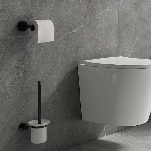 Держатель для туалетной бумаги Omnires Modern, черный