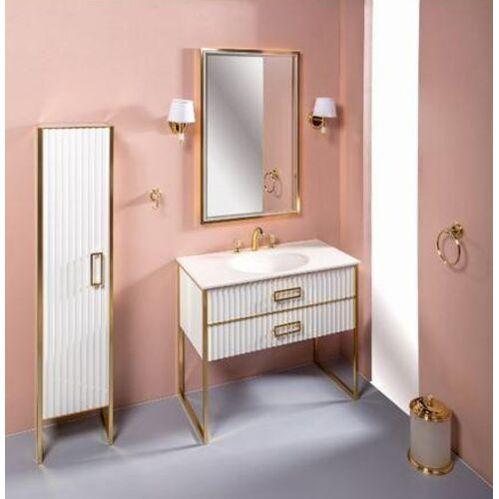Мебель для ванной Armadi Art Monaco 100 под моноблок белая с золотом