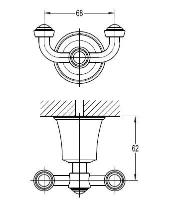 Крючок для ванной Art&Max LIBERTY  хром