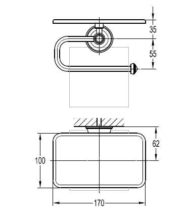 Держатель для туалетной бумаги Art&Max LIBERTY хром