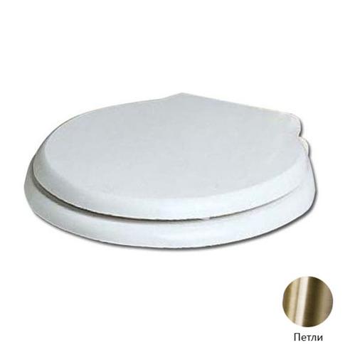 AZZURRA Giunone-Jubilaeum сиденье для унитаза белое, шарниры бронза (микролифт)