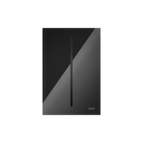 Электронная панель смыва писсуара TECE стекло чёрное, от сети 230 В