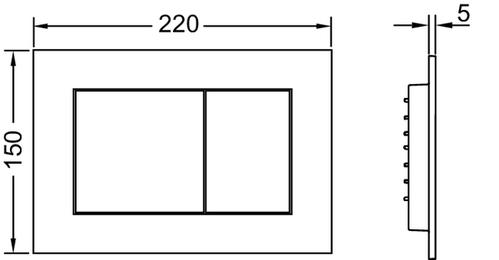 Панель смыва TECEnow для системы двойного смыва  белый, антибактериальное покрытие