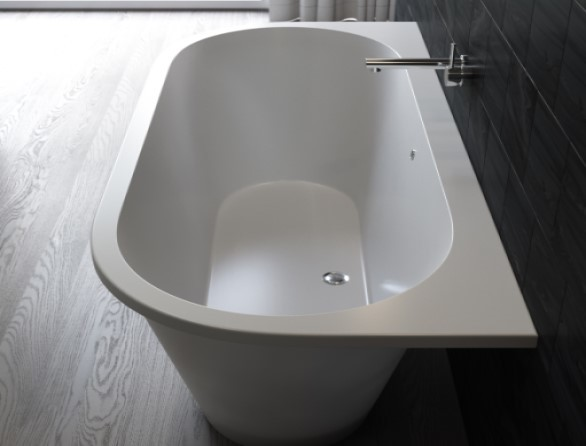 Ванна каменная Galatea 170x77 белый мат