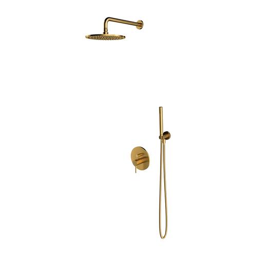 Omnires Y душевая система встроенный, брашированное золото
