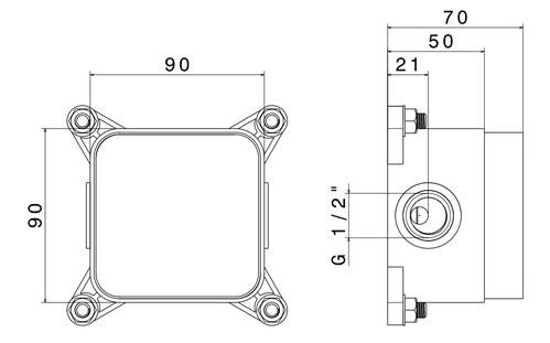 Box для отдельностоящего смесителя Newform