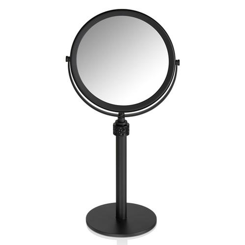 Decor Walther Rocks SP 13/V Косметическое зеркало на подставке, с кристаллами Swarovski, цвет: черный матовый
