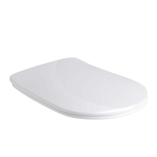Kerasan Nolita Сиденье для унитаза SLIM быстросъемное, цвет белый глянц, петли хром (микролифт)