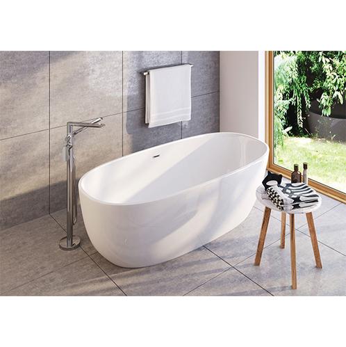 Смеситель напольный Deante Alpinia для отдельно стоящей ванны с душевым набором, хром