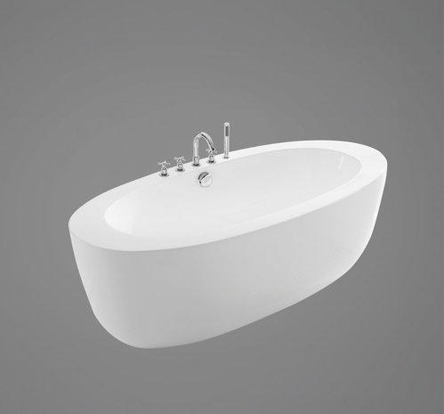 Акриловая ванна в комплекте со сливом-переливом, модель BB49-1750