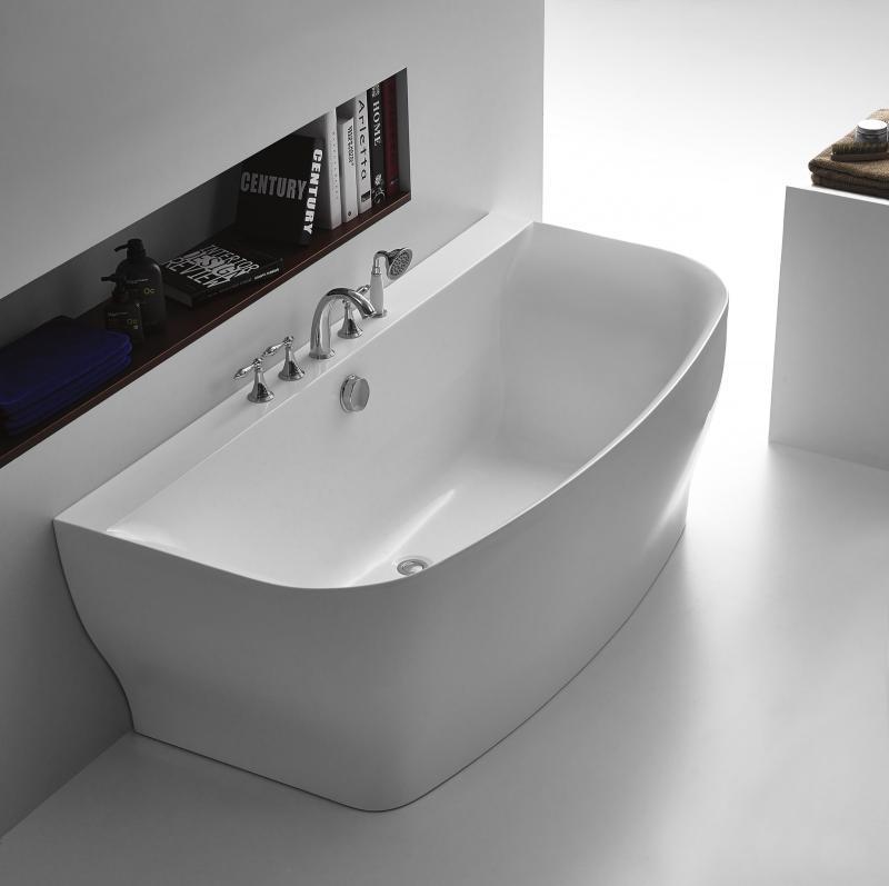 Акриловая ванна Belbagno 1650x780x580, слив перелив бронза