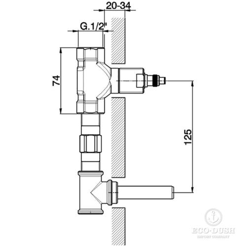 CISAL Less New Внутренняя часть смесителя на 3 отверстия из стены для раковины