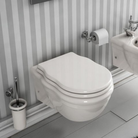 Artceram HERMITAGE Унитаз подвесной 36х55 см, цвет белый, сиденье на выбор