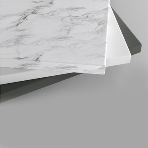 Столешница Holbi из Solid Surface, белая матовая, толщина 20 мм