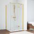 Душевой уголок Vegas Glass  профиль золото, стекло прозрачное