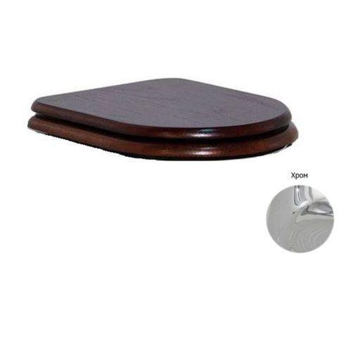 Крышка-сиденье CEZARES King Palace Орех с микролифтом, петли хром