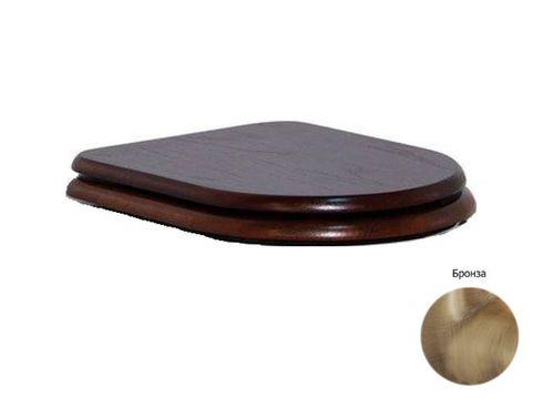 Крышка-сиденье CEZARES King Palace Орех с микролифтом, петли бронза