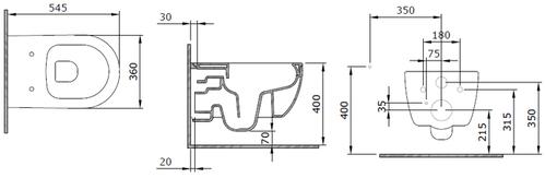 Унитаз подвесной Bocchi V-Tondo Rimless, 55x36, без ободка, съемное сиденье  Антрацит матовый