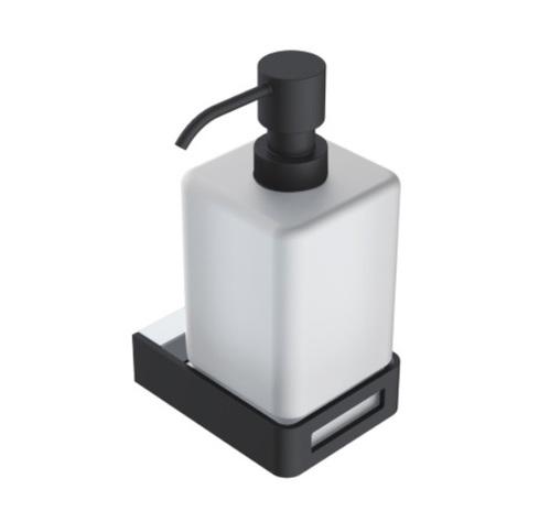 Boheme Q Диспенсер для мыла настенный, хром/черный)