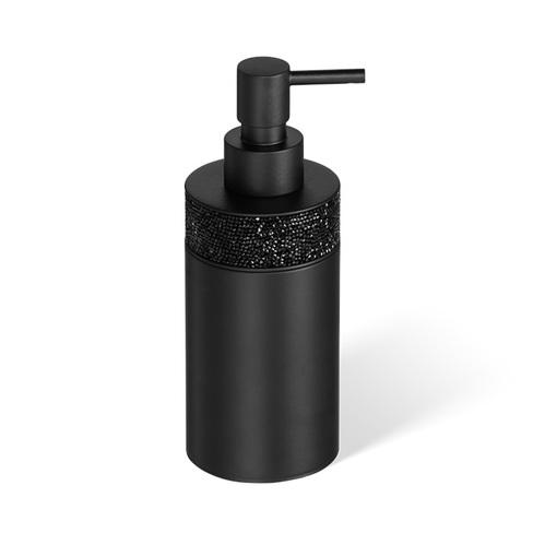Decor Walther Rocks SSP1 Дозатор для мыла, настольный, с кристаллами Swarovski, цвет: черный матовый
