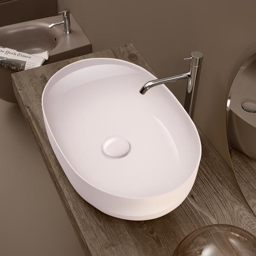 Kerasan Nolita Раковина накладная 60х40 см, без отв под смеситель, цвет белый глянцевый