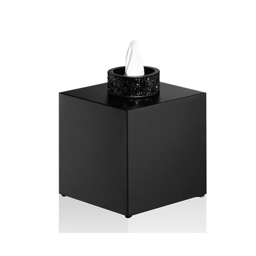 Decor Walther Rocks KB Диспенсер для салфеток 13x13x15.6см, с кристаллами Swarovski, цвет: черный матовый